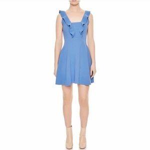 NWT Sandro Helen Ruffle Dress
